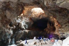 Cavernes de Borra, vallée d'Araku, Andhra Pradesh, Inde Image stock