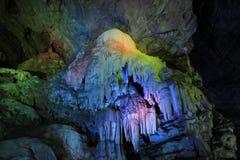 Cavernes de Borra, vallée d'Araku, Andhra Pradesh, Inde Images libres de droits