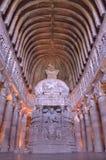 Cavernes de bouddhiste d'ellora d'Ajanta Images libres de droits