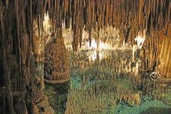 Cavernes de dragon sur Majorque Photographie stock