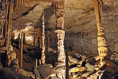 Cavernes de dragon sur Majorque Photo libre de droits