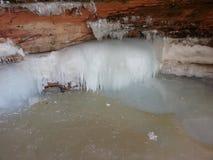 Cavernes de glace Photo libre de droits