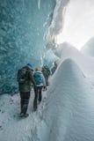 Cavernes de glace Islande Jokulsarlon Photo libre de droits