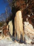 Cavernes de glace sur le lac Supérieur Image stock