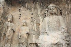 Cavernes de Longmen à Luoyang. Statue de Bouddha. Photographie stock