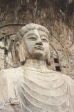 Cavernes de Longmen à Luoyang. Statue de Bouddha. Images libres de droits