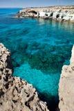 Cavernes de mer de la Chypre Photographie stock libre de droits