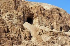 Cavernes de Qumran Photographie stock libre de droits