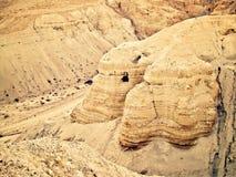Cavernes de Qumran Images libres de droits