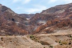 Cavernes de Qumran, la Terre Sainte, Israël photos stock
