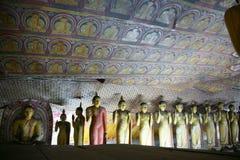 Cavernes de roche de Dambullla Photos libres de droits