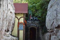 Cavernes de royaume des fées aux jardins de ville de roche à Chattanooga, Tennessee Image stock