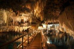 Cavernes en cristal en Bermudes Image libre de droits