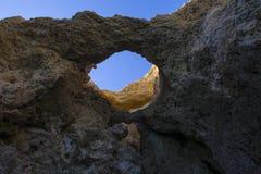 Cavernes et grottes de l'Algarve Photo stock