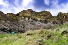 Cavernes inconnues de monastère, Vardzia, la Géorgie images libres de droits