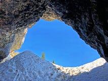 Cavernes préhistoriques de Wildkirchli ou mourir Wildkirchlihöhle Höhlebäre ou Hoehlebaere et Eesidle dans la région d'Appenze image stock