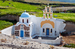 Cavernous church at Santorini, Greece Stock Photo