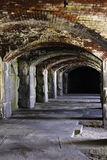 Cavernous walkway at Fort Popham. Royalty Free Stock Photos