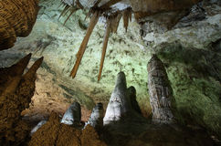 Caverns. A shot from inside Carlsbad caverns Stock Image