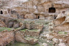 The caves of the ancient city Stock Photography