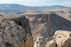 Arbel Nature Reserve And National Park. Caves at Arbel Nature Reserve And National Park, Israel Stock Photos