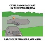 Caves , Baden-Wurttemberg, Germany line icon concept. Caves , Baden-Wurttemberg, Germany flat vector sign, symbol Stock Illustration