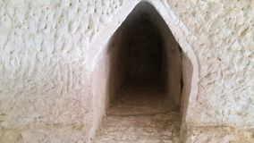 The caves of Beit Jovrin. The site is located in the center of the country and is handled by the Nature and Parks Authority Stock Photography