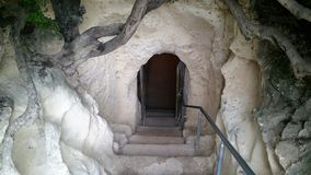 The caves of Beit Jovrin. The site is located in the center of the country and is handled by the Nature and Parks Authority Royalty Free Stock Photos