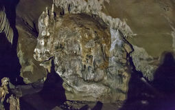 Caves and cave formations in the canyon of the river next to Bor Royalty Free Stock Photos