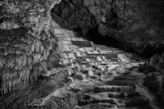 Caves and cave formations in the canyon of the river next to Bor. In Serbia Stock Images