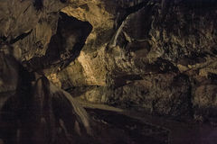 Caves and cave formations in the canyon of the river next to Bor. In Serbia Stock Photo