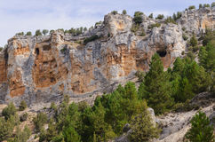 Caves in the cliffs Stock Image