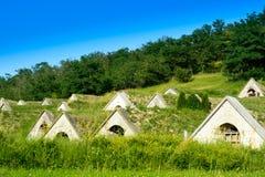 Caves dans la région de Tokaj - Hercegkut Sarospatak Hongrie Image libre de droits