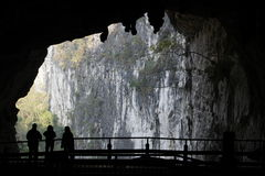 Caves in Dashiwei Tiankeng . Royalty Free Stock Images