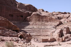 Caves Dwellings Ancient City of Petra Royalty Free Stock Photos
