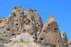 Caves In Spectalar Rocks, Cappadocia, Turkey Stock Photo