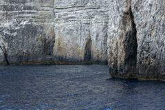 Caves in the Ionian Sea Stock Image