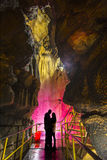 Caves and lovers. Circle of love and cave tours royalty free stock photos