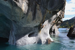 Caves of Marble, Chilean Patagonia Royalty Free Stock Photo