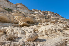 Caves of Matala. Crete, Greece Royalty Free Stock Photos