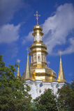 Caves Monastery Gilded cupolas. Stock Image
