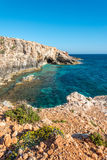Caves near Ghar Lapsi in Malta. Caves along the southern coast near Ghar Lapsi in Malta Stock Photography