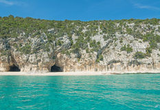 Caves in Orosei Gulf Stock Image