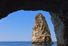 Caves at Paxos island in Greece Royalty Free Stock Photography