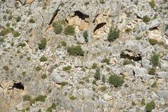 Caves, Peristerona Gorge Royalty Free Stock Photos