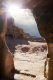 Caves of Petra Stock Photography