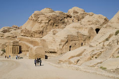 Caves of Petra Royalty Free Stock Photo