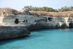 Caves at The Poetry, Southern Italy Stock Image