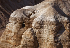 The caves of Qumran Stock Image