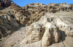 Caves at Qumran Stock Images
